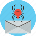 attack, breach, bug, data, mail, malware, spyware, virus icon