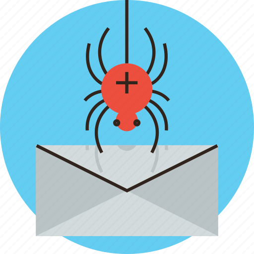 attack, breach, bug, data, mail, malware, spyware, virus icon