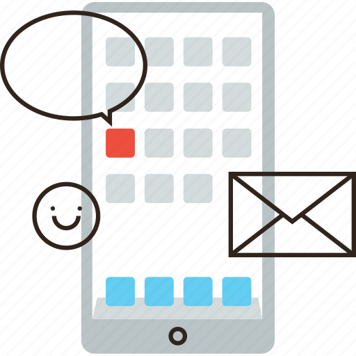 chat, communication, mobile, network, networking, phone, sms, social icon