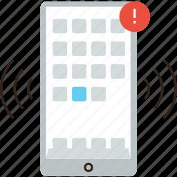 alert, mobile, notification, notify, phone, push, reminder icon