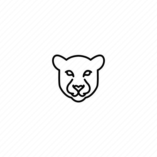animal, character, face, head, jungle, panther, wild icon