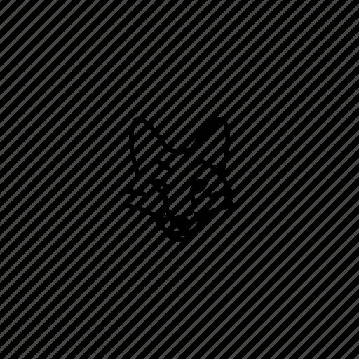 animal, character, face, fox, head, jungle, wild icon