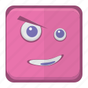 character, cute, emotion, ghost, monster, scare, smiley, wink icon