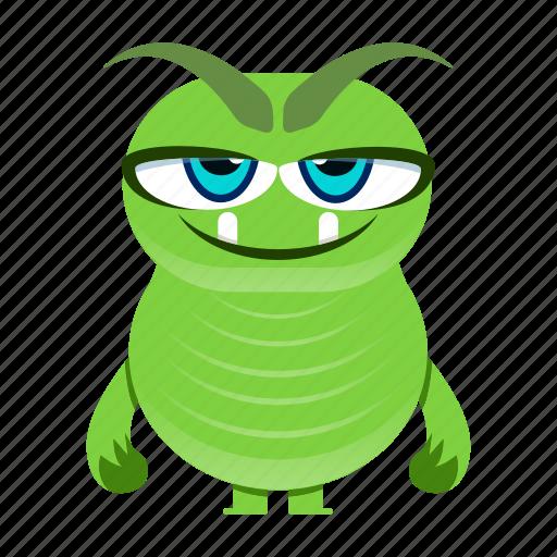 alien, cartoon, character, cute, devil, halloween, monstermonster icon