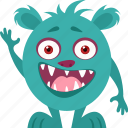 cartoon, comic character, funny, monster, spooky icon
