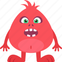 alien, cartoon monster, cute monster, monster icon