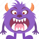 cartoon, character, monster, spooky, ugly icon