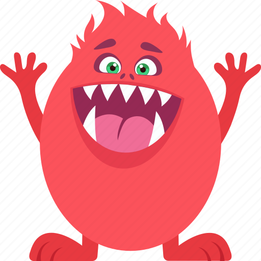 cartoon, character, funny, happy monster, moron icon
