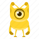 alien, cartoon, cute, halloween, monster icon