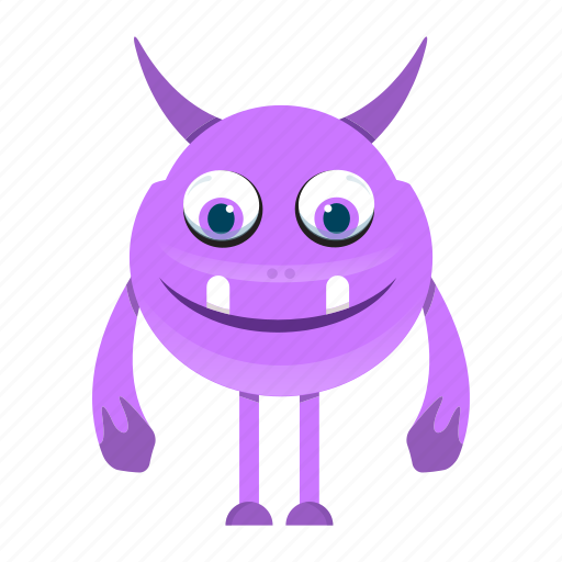 cartoon, character, devil, monster icon