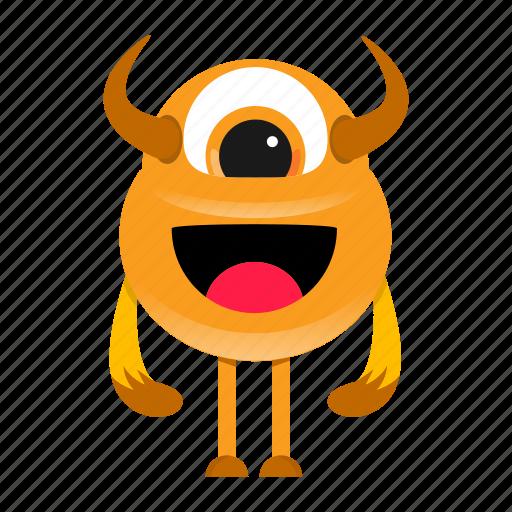 cartoon, character, halloween, monster icon