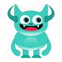 alien, cartoon, halloween, monster icon