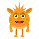 cartoon, character, halloween, monster icon
