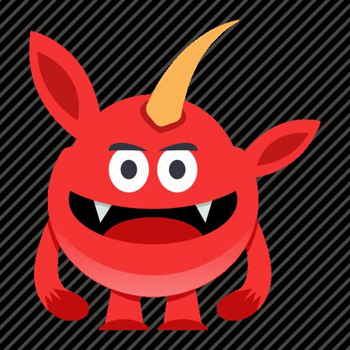 cartoon, halloween, monster icon