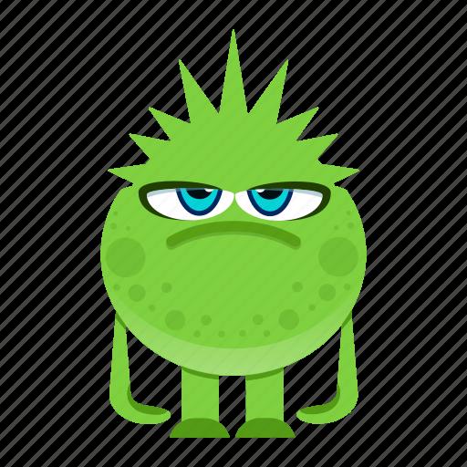alien, cartoon, halloween, monster icon