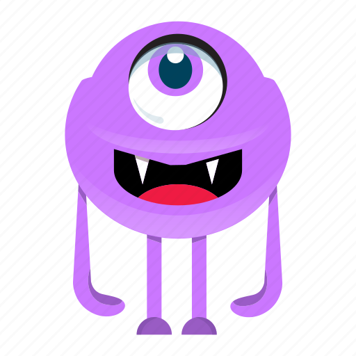 alien, cartoon, cute, halloween, monster icon