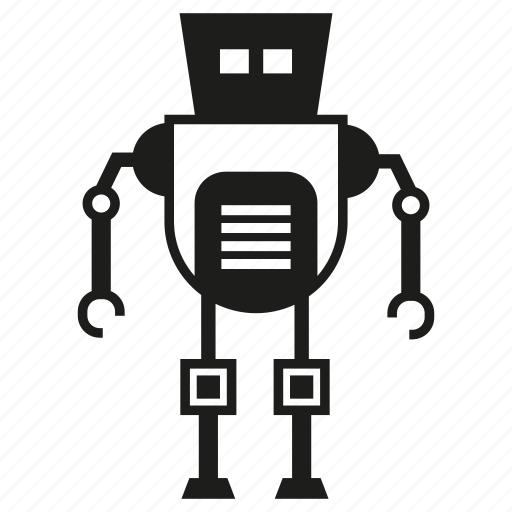 cartoon, character, cute, cyborg, monster, robot, robotic icon
