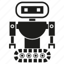 cartoon, character, cute, cyborg, machine, robot, robotic icon