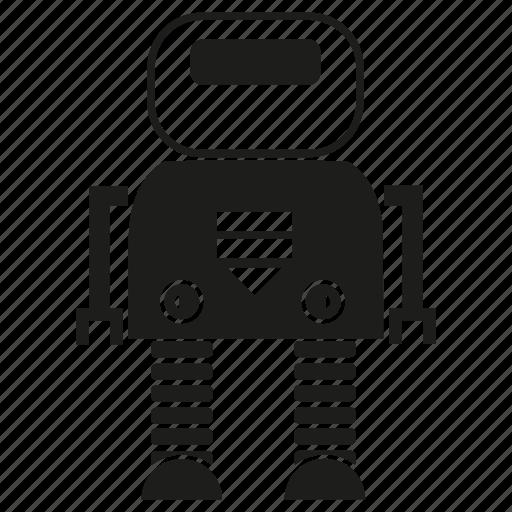 cartoon, character, cute, cyborg, machine, robot, robotic icon