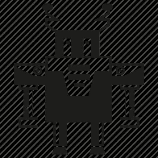 cartoon, character, cute, cyborg, monster, robot, robotic icon