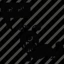 cartoon monster, cyclops, halloween monster, horned one eyed monster, spooky cartoon icon
