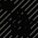 cartoon monster, cyclops, monster screaming, scary cartoon, spooky cartoon icon