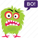 angry monster, cartoon character, grumpy monster, monster growling, monster screaming icon