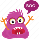 cartoon monster, ghost, halloween character, monster yelling, scary cartoon icon