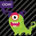 cartoon monster, cyclops, monster screaming, scary cartoon, spooky cartoon