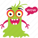 cartoon monster, creature, ghost, goblin, gremlin troll icon