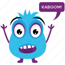 cartoon character, cute cartoon, fluffy monster, gremlin, grumpy monster, monster growling, monster screaming icon