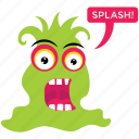 alien cartoon, cartoon character, funny cartoon, halloween monster, monster slug icon