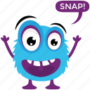cartoon emoticon, cartoon monster, fluffy monster, game character, halloween character icon