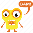 alien monster, cartoon character, cartoon monster, creature, monster growling icon