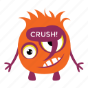 cartoon monster, funny monster, game character, halloween character, monster emoticon icon