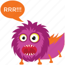 beast, cartoon character, cartoon monster, game character, monster screaming icon
