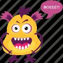 bigfoot, cartoon monster, ghost, goblin, gremlin troll icon