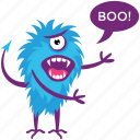 cartoon character, goofy creature, monster growling, monster screaming, one eyed monster icon