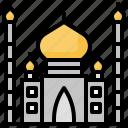 architecture, building, city, landmark, mahal, taj