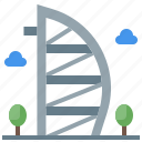 al, arab, architectonic, burj icon