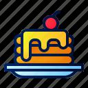 pancake, dessert, breakfast, morning, sweet, cake, pastry