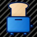 bread, toaster, toast, breakfast, food, morning, routine