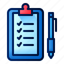notes, activity, clipboard, journal, pen, list, morning
