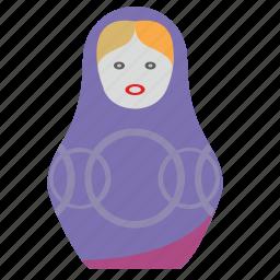 art, matreshka, present, toy, woman icon