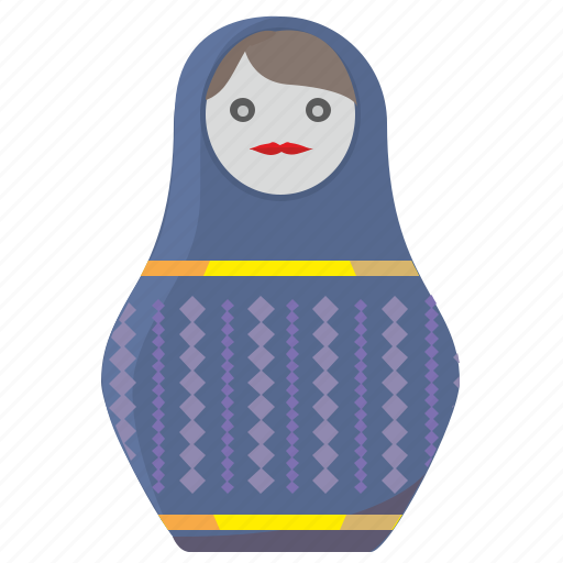 matreshka, medium, russia, size, toy icon