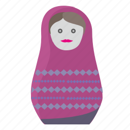 matreshka, russia, toy, tradition, woman icon