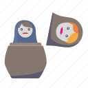 matreshka, present, quest, toy icon