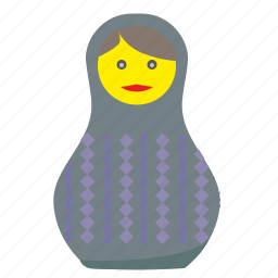 matreshka, russia, toy, woman icon
