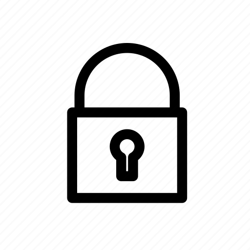 closed, lock icon