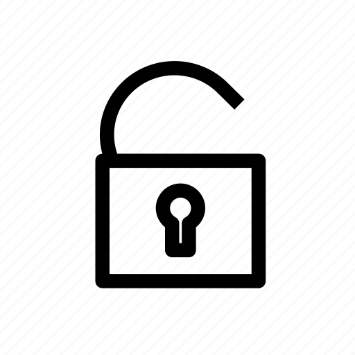 lock, open icon